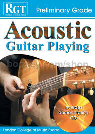 preli guitare a le rgt acoustic guitar preliminary grade book cd