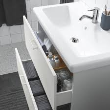 enhet tvällen waschbeckenschrank 2 schubl weiß pilkån mischbatterie 84x43x87 cm