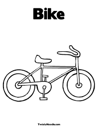 Olivia Road Safety Colouring Page More See Bicycle Template For Kids