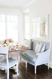 Dining Room Decor Love The Mix Of Bench Chairs For This Round Table