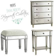 Hayworth Mirrored Dresser Silver by Made With Love By Dana Metallic Dresser Makeover Decorating