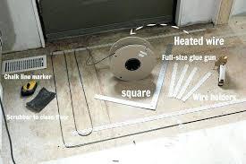 heated tile floors interior home design