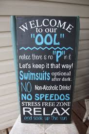 Pool Sign Rules Wooden Wall Art Hand Painted By MamaSaysSigns