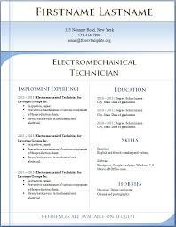 Free CV Template 1 2