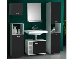 vcm badmöbel set lodala weiß schwarz 5 teilig kaufen bei obi