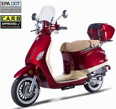 2017 ZNEN VPA 50cc Scooter With Windshield Remote Start Anti