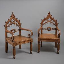 Pair Of William IV Gothic Oak Armchairs (c. 1835 England) From ... Vintage Oak Armchairs By Borge Mogsen For Fredericia Set Of 6 Unique Pair Vienna Arts And Crafts Movement For William Iv Gothic C 1835 England From Bas Van Pelt 1930s 2 Sale At Pamono Forest Ldon Danish Soro Stolefabrik 1960s Guillerme Chambron Votre Maison On Viyet Designer Fniture Seating Brownstone Ibizia Sepia Armchair Jack Der Molen Vans Mid