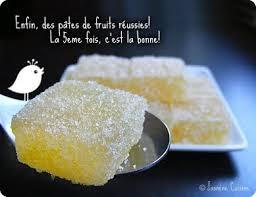 pâte de fruits au citron cuisine