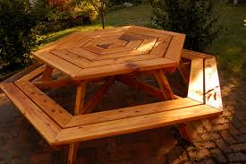 hexagonal cedar picnic table mamaliga romanian expat living in