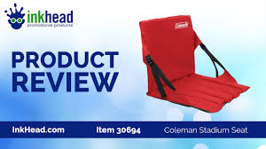 Custom Stadium Chairs For Bleachers by Coleman Stadium Seat Product Review Video Inkhead Com Youtube