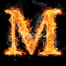 Fonts and Symbols IN Fire Letter M Stock s Free