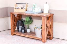 Console Tables Showy Diy Rustic Outdoor Table Outdoors Challenge In Swish Furniture Wicker Cheap Patio