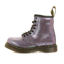 kids girls dr martens infant brooklee purple shimmer ankle dm