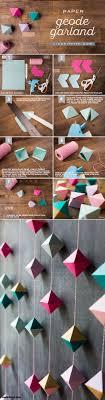 DIY Paper Geode Garland Tutorial