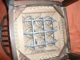 alter wohnzimmerstuhl esszimmerstuhl mit federkern nussholz