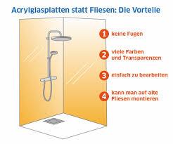 wandverkleidung aus acrylglas bzw plexiglas im badezimmer