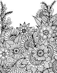 Free Coloring Page Download From Alisa Burke More PagesPainted FlowersAdult