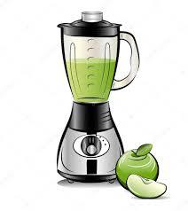 mixeur de cuisine mixeur de cuisine couleur dessin avec du jus de pomme vecteur