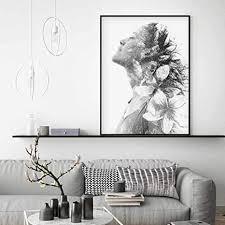 abstrakte schwarz weiß tinte frauen leinwandbilder poster