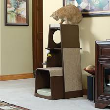 modern cat tower sauder 416819 modular modern cat tower the pet furniture