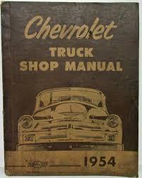 100 The Car And Truck Shop 1954 Chevrolet Service Repair Manual Light Medium Heavy Duty