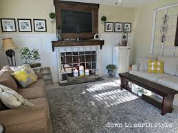 Earth Tones Living Room Design Ideas by Down To Earth Style Wall Colors