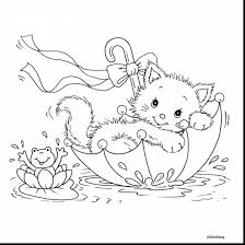 Good Cat Coloring Pages With Kittens And