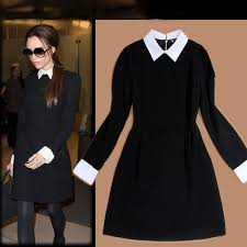 Vintage Black Dress With Sleeves