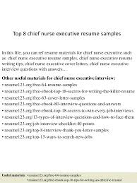 Sample Executive Resume Top 8 Chief Nurse Executive Resume Samples