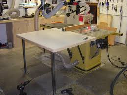 Used Grizzly Cabinet Saw by 160 My New Outfeed Table The Wood Whisperer