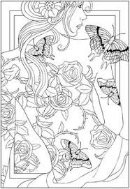 Welcome To Dover Publications Roses Butterfly Tattoo Coloring Pages Colouring Adult Detailed Advanced Printable Kleuren Voor Volwassenen Coloriage Pour