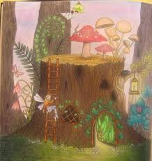 A Tree Stump House For The Fairies Enchanted Forest