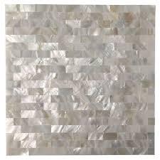 art3d peel and stick kitchen backsplash tile of pearl shell