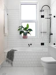 White Subway Wall Tiles For Small Bathroom Ideas With Black Faucet ... White Tile Bathroom Ideas Pinterest Tile Bathroom Tiles Our Best Subway Ideas Better Homes Gardens And Photos With Marble Grey Grey Subway Tiles Traditional For Small Bathrooms Accent In Shower Fresh Creative Decoration Light Grout Dark Gray Black Vanities Lovable Along All As