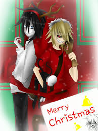 Not drawn by me but a cool pic Jeff and Ben dressed up as Santa and Rudolph