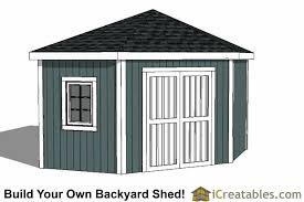 12x12 Storage Shed Plans Free by 12x12 5 Sided Corner Shed Plans