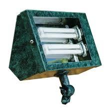 filament design adrien 2 light verde green outdoor flood light cli