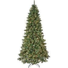 C30 9ft Pre Lit Carolina Pine Christmas Tree