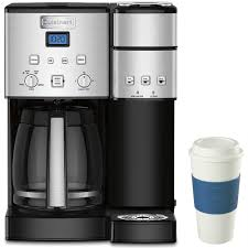 Cuisinart 12 Cup Coffee Maker And Single Serve Brewer W 16 Oz Reusable