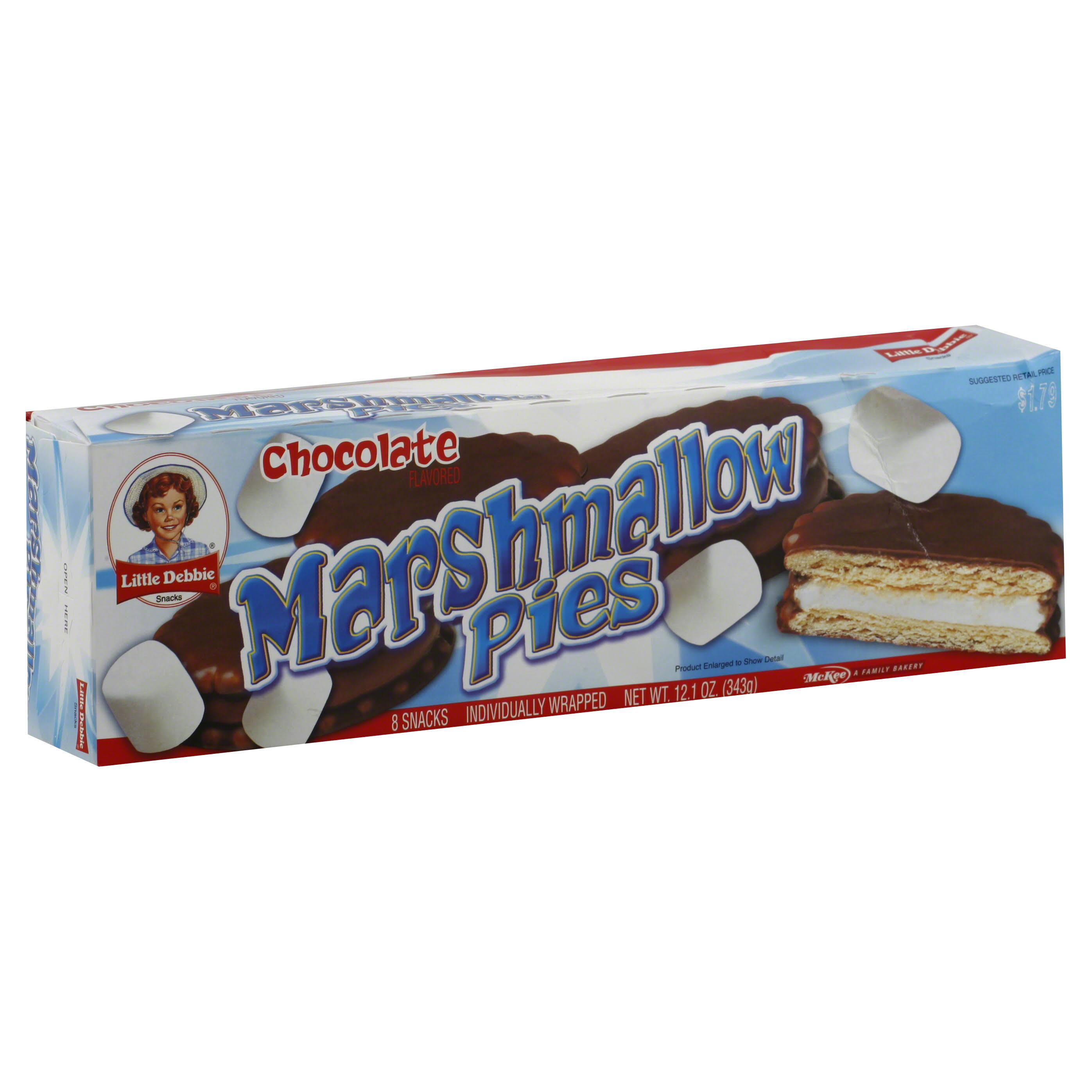 Little Debbie Snacks Marshmallow Pies - Chocolate Flavored, 8ct