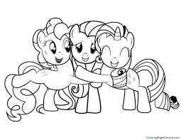 My Little Pony Printable Colouring Pictures Friendship Magic Coloring Page Free Sheets Pages