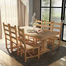 Set Has A Natural Look And Will Be Great Choice For Your Kitchen Or Dining Room Made Of 100 Teak With Whitewash Finish These Durable