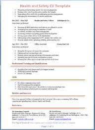 Health And Safety Advisor Cv Example 2