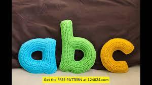 how to crochet alphabet letters