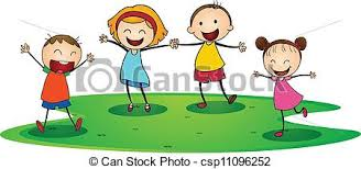 Illustration Of A Kids Playing Happily Outside