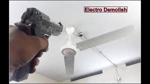 ceiling fan wobble until it falls down 2 blades and 1 blade test