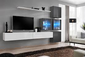formera sydney 19 led anthrazit hochglanz tv wohnwand led schrankwand mediawand wohnzimmerwand