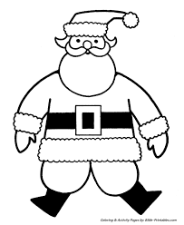 Easy Pre K Christmas Coloring Pages 6