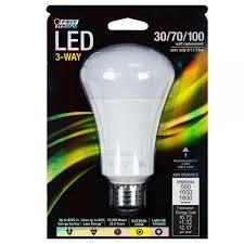 led 3 way three way light bulb 100 watt equal feit a30 100 led
