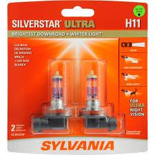 sylvania h11 silverstar ultra headlight contains 2 bulbs